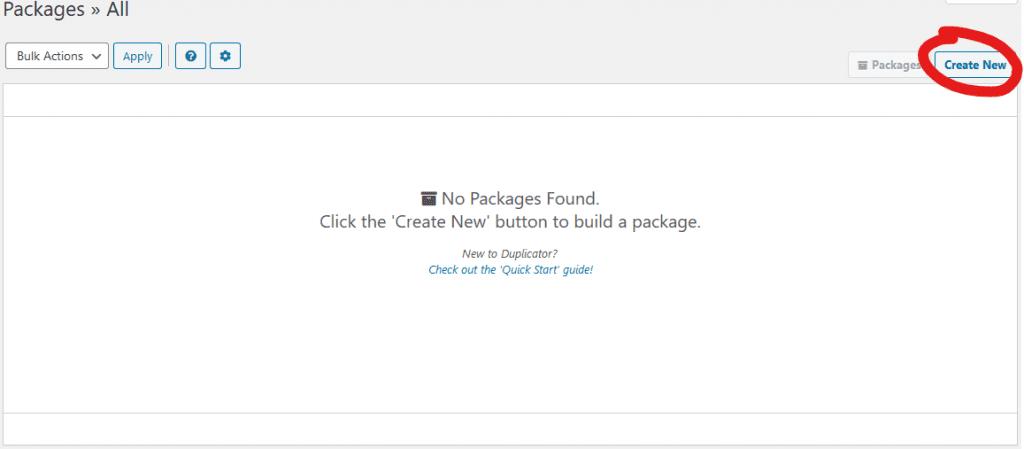Como migrar o WordPress com Duplicator create package